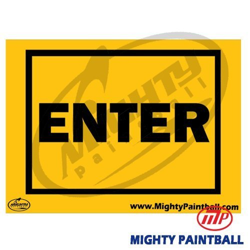 MP Enter Safety Sign Board by Mighty Products