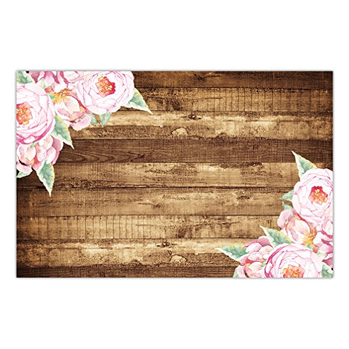 DB Party Studio Paper Place Mats 25 Count Pretty Pink Peonies Casual Country Design Indoor Outdoor Barbeque BBQ Engagement Grad Parties Disposable Quick Cleanup Table Setting Decor 17