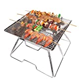 Yodo Portable Folding Tailgate Grill Charcoal Grill for Camping Roadtrip Backpacking Party,Made of Premium Stainless Steel