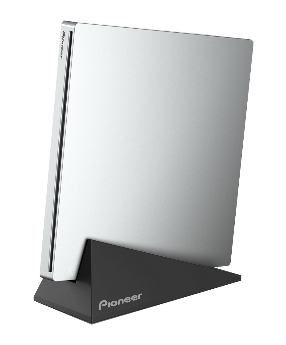 Pioneer 6X BDR-XU03 Slim Portable USB 3.0 Blu-ray Burner - Supports USB 3.0, BDXL, BD, DVD, and CD Media (Silver, Retail Box)