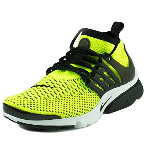 Nike Mens Air Presto Flyknit Ultra Volt/White/Black Running Shoes (size 9.5)