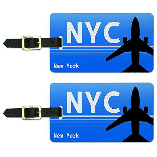 Graphics & More New York Ny (NYC) Airport Code Luggage Suitcase Id Tags, White