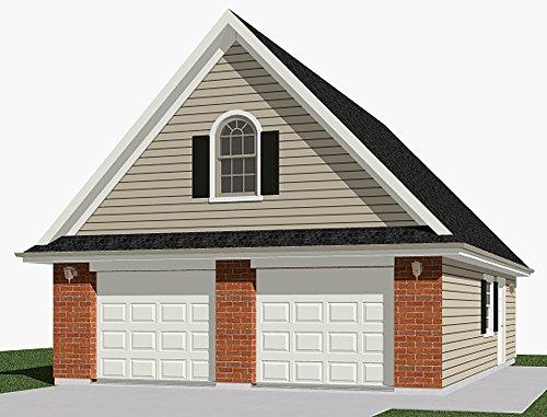 Garage Plans : 2 Car With Attic Truss Loft - 1014-1B 26