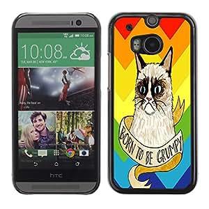 Dragon Case - FOR HTC One M8 - Can't figure it out - Caja protectora de pl??stico duro de la cubierta Dise?¡Ào Slim Fit