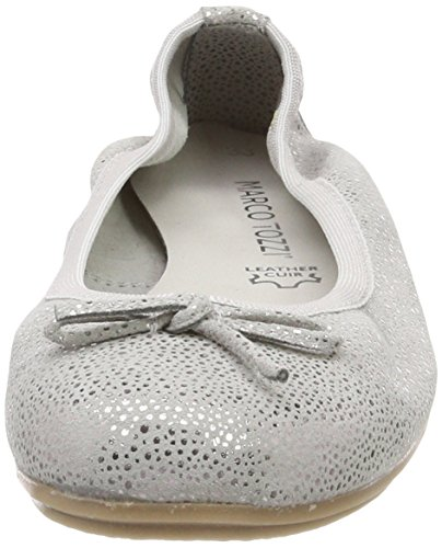 Marco Tozzi Premio Mädchen 42404 Geschlossene Ballerinas Grau (Grey Metallic)