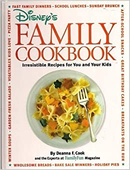 Disneys Family Cookbook Hardcover 1996