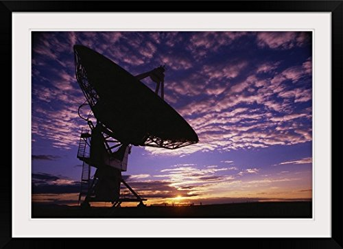 greatBIGcanvas Telescope of the Very Large Array Entitled Photographic Print with Black Frame, 36