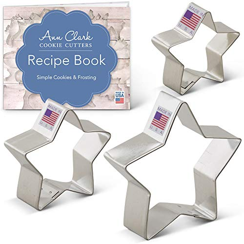 Ann Clark Cookie Cutters 3-Piece Star Cookie Cutter Set with Recipe Booklet, 2