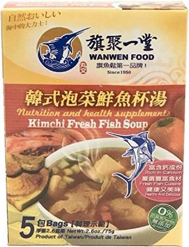 《台湾丸文》鮮魚杯湯 韓式泡菜 キムチ魚スープ 5 入 75g《台湾 お土産》[並行輸入品]