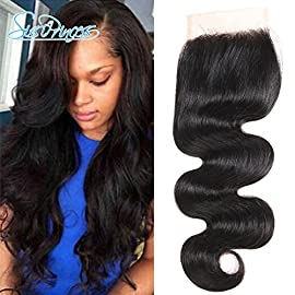 Grade 8A Brazilian Hair Lace Closure Free Part 10 inch Hair Swiss Lace Closure 130% Density Virgin Brazilian Human Hair…