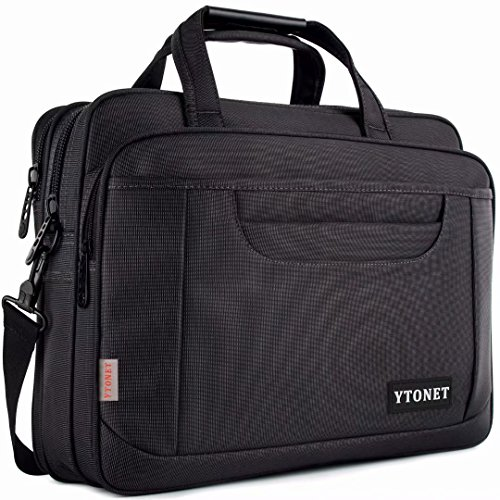 Ytonet Laptop Briefcase,15.6 Inch Laptop Bag,Business Office Bag for Men Women,Stylish Nylon Multi-Functional Shoulder Messenger Bag for Notebook/Computer/Tablet/MacBook/Acer/HP/Dell/Lenovo,Black - Notebook Bag Laptop