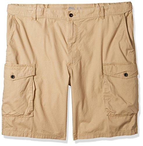 IZOD Men's Big and Tall Saltwater Ripstop Cargo Short, Cedarwood Khaki, 44