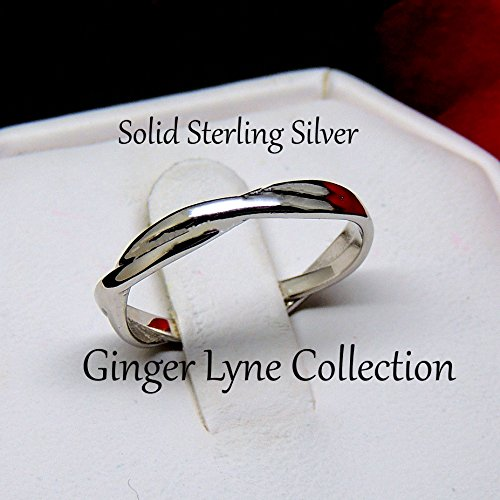 Ginger Lyne Collection Aurora Infinity Twisted Sterling Silver Anniversary Wedding Band Ring by Ginger Lyne Collection (Image #1)