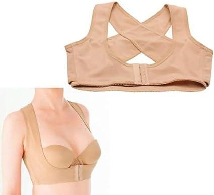 Women Breast Bust Push up Back Shoulder Posture Corrector Adjust Enhance Bra M S