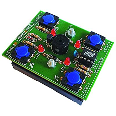 Brain Game MiniKit - MK112 by Velleman. Entry skill level soldering project: Precision Measurement Products: Industrial & Scientific