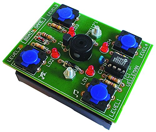 Brain Game MiniKit - MK112 by Velleman. Entry skill level soldering project