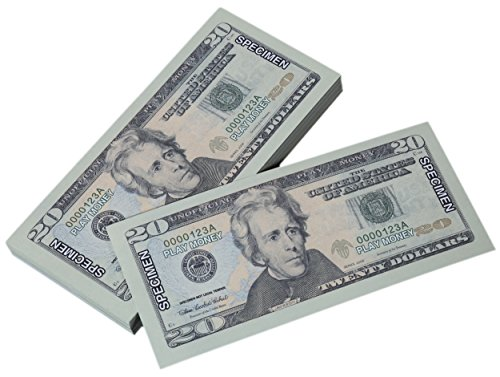 Toy Money 100 : Play money twenty dollar bills pretend