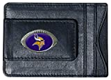 NFL Minnesota Vikings Leather Money Clip Cardholder