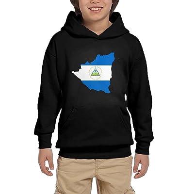 S8sws Hoodies Map Of Nicaragua Youth Unisex Hoodies Print Pullover Sweatshirts