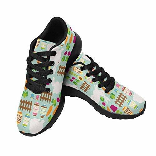 Interesse Per Le Donne Jogging Running Sneaker Leggero Go Easy Walking Comfort Sport Scarpe Da Corsa Easter Eggs, Flowers And Bunnies Multi 1