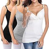 U-Pretty Maternity Shirts Nursing Tank Tops Camisole for Breastfeeding