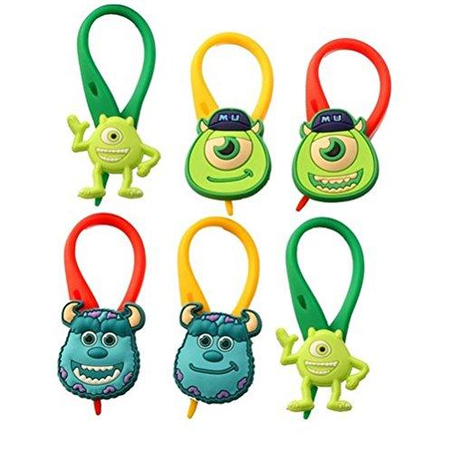 [AVIRGO 6 pcs Colorful Soft Zipper Pull Charms Backpack Bag Pendant Jackett Set # 78-4] (Oozma Kappa Costume)