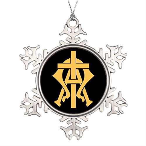 Personalized Family Christmas Snowflake Ornaments Alpha Omega Tree Decorating Easter