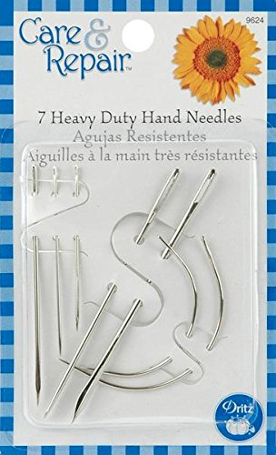 Dritz 9624D Assorted Heavy Duty Hand Needles, 7-Pack