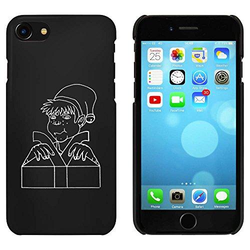 Noir 'Elf de Noël' étui / housse pour iPhone 7 (MC00067855)