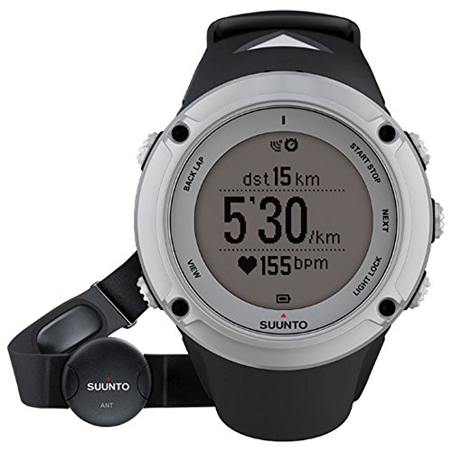 Suunto SS019651000 Men's Ambit2 HR Belt GPS Digital Grey Dial Black Strap Watch by Suunto