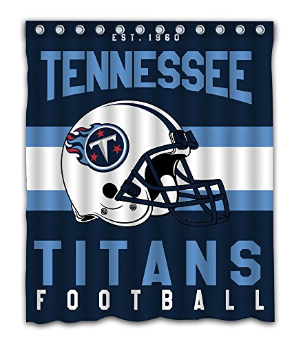 Sonaby Custom Tennessee Titans Waterproof Fabric Shower Curtain For Bathroom Decoration (60x72 Inches)