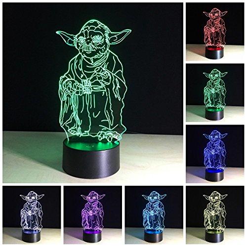 Amazing 3D illusion Effect LED Night Light Yoda Master LED