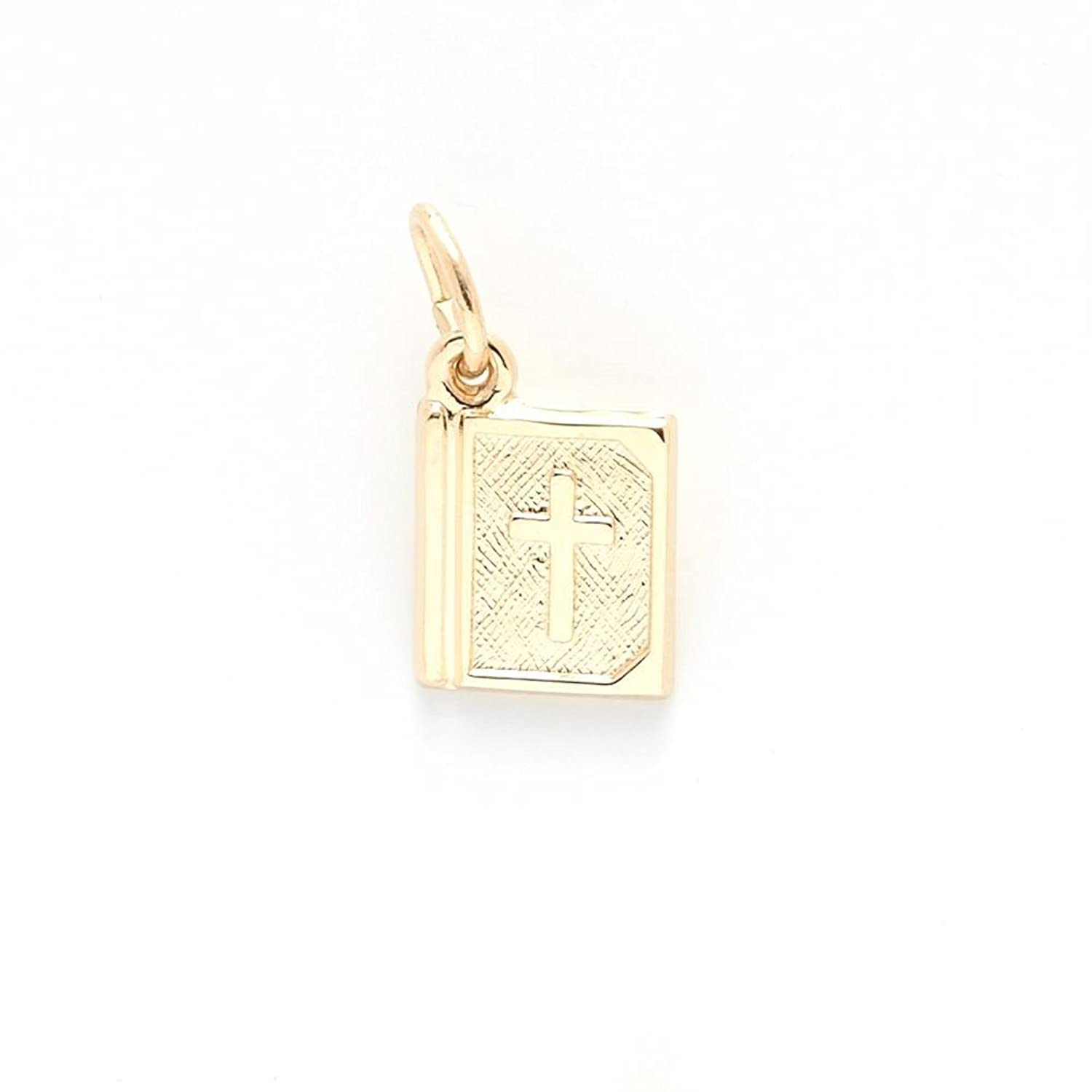 10k Yellow Gold Bible Charm, Charms for Bracelets and Necklaces