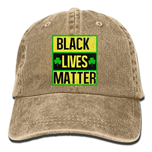 Welonzd Black Lives Matter Denim Hat Baseball Caps Plain Cap
