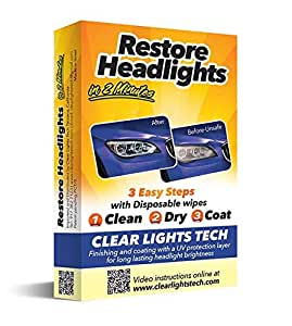 CAR HEADLIGHT CLEANING AND RESTORATION WIPES