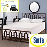 Serta Rejuvenator Dual-layer 4-inch Memory Foam Mattress Topper with High Quality Sleep Mask & Comfortable Pair of Corded Earplugs Included (Queen) - Experience the luxurious support of this double-layer Serta memory foam mattress topper.