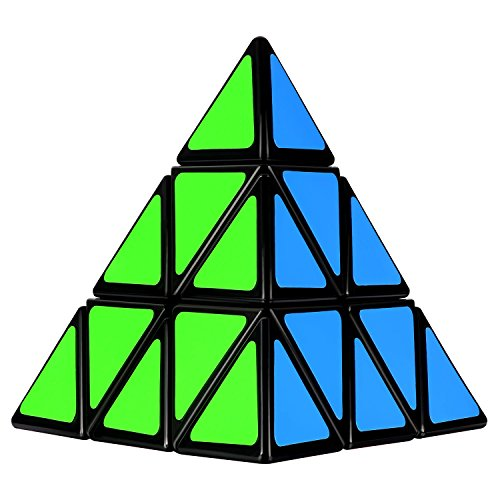 Olicity Pyramid Cube Speed Triangle Puzzle Cube, Black