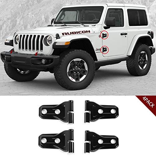 JeCar Door Hinge Cover JL Wrangler Accessories for 2018 Jeep Wrangler JL 4 Door&2 Door- 4PCS(black))
