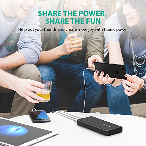 Battery Pack RAVPower 26800 Battery Charger 26800mAh portable Charger Total 55A fina 3 Port 2A key in Triple iSmart 20 USB strength Banks for iPhone iPad Galaxy S8 and other sorts of wise units Battery Packs