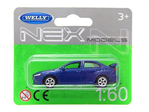 Mitsubishi Lancer Evolution X Blue 1:60 Welly