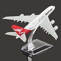 New 16cm Metal Plane Model Aircraft A380 AUSTRALIA QANTAS Aeroplane Scale Desk Toy By KTOY