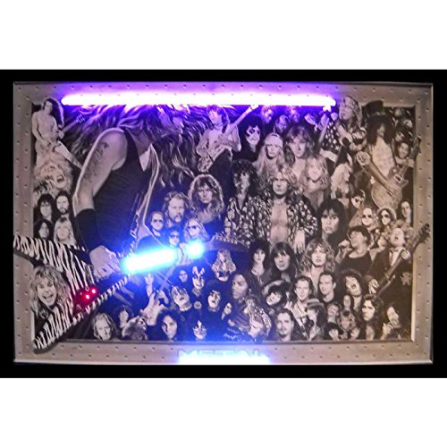 Metal Advertisement (Neonetics Bar and Game Room Heavy Metal Neon LED Lighted Framed Vintage Advertisement Wall Art)