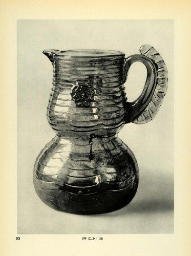 1939 Print Antique 17th Century Green Glass Jug Pitcher Decorative Handicraft - Original Halftone Print from PeriodPaper LLC-Collectible Original Print Archive