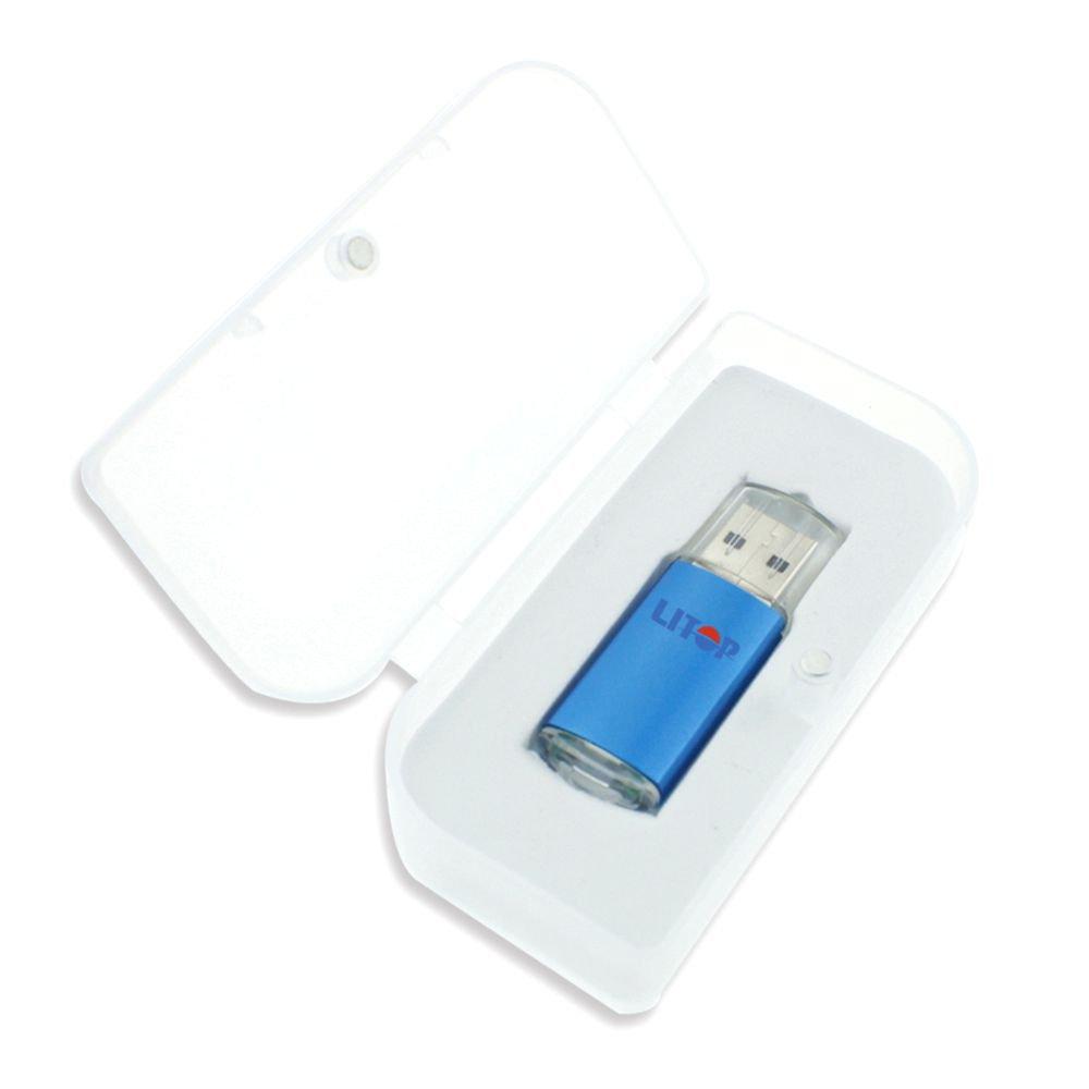 メタルボディUSBフラッシュドライブUSB 2.0メモリディスク 2GB ブルー USB-215 B00PRVLFZG 2GB ブルー ブルー 2GB
