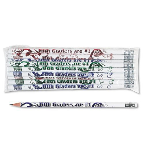 - Moon Products - Decorated Wood Pencil, Fifth Graders Are #1, HB #2, WE Brl, Dozen 7865B (DMi DZ