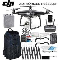 DJI Phantom 4 PRO Obsidian Edition Drone Quadcopter (Black) Starters Pro Backpack Bundle