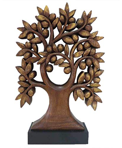 (Decozen Handmade Wooden Tree of Life Décor a Symbol of Growth and Strength Made by skilled Artisans for Farm House Home Decor Living Rooms Bedroom Kitchen Console Table 4 x 12 x 17 inches )