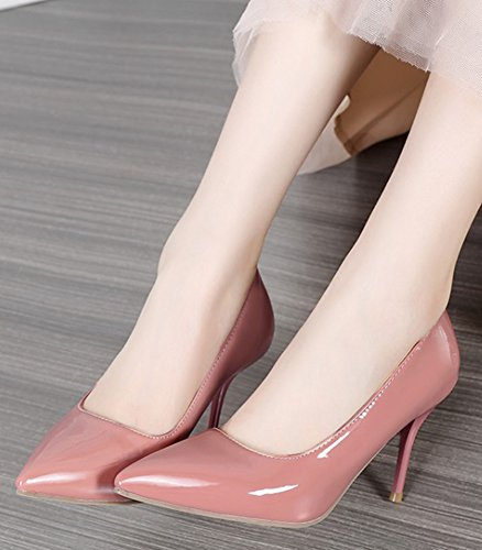 Court Aisun Stiletto High Shoes Sexy Women's Toe Pink Heels Pointy 0B6p0q