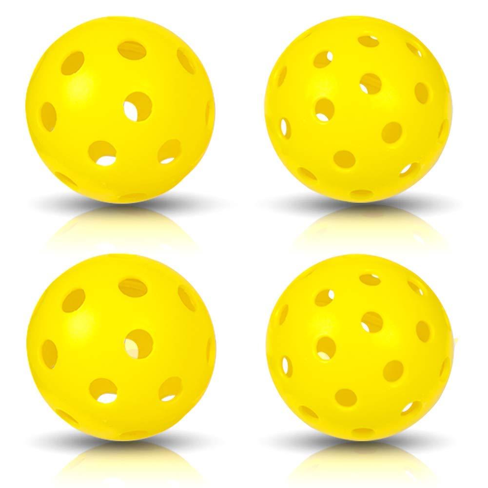 NAVESTAR ピックルボールパドル グラファイト製 軽量ピックルボールラケット ハニカム複合コア&エッジガード&保護カバー付き B07H8TXYPW  4 balls