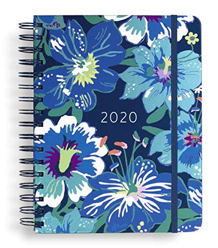 "Vera Bradley Large 17 Month Daily Planner, August 2019 - December 2020, 8.75"" x 7.25"" with Stickers and Daily, Weekly, Monthly Views, Moonlight Garden from Vera Bradley"
